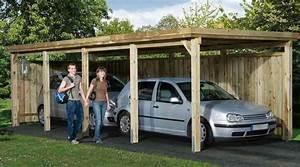 Garage Voiture En Bois : carport bois robuste ~ Dallasstarsshop.com Idées de Décoration
