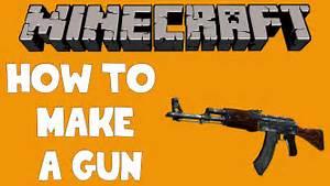 Minecraft - How to make a Gun! - (1.8 / 1.9) - YouTube