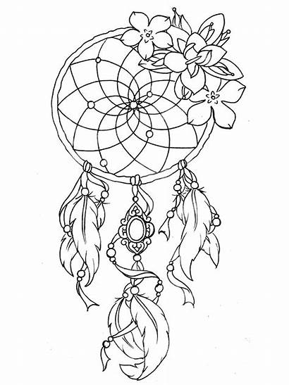 Tattoo Dreamcatcher Coloring Designs Tattoos Tatoo Pages