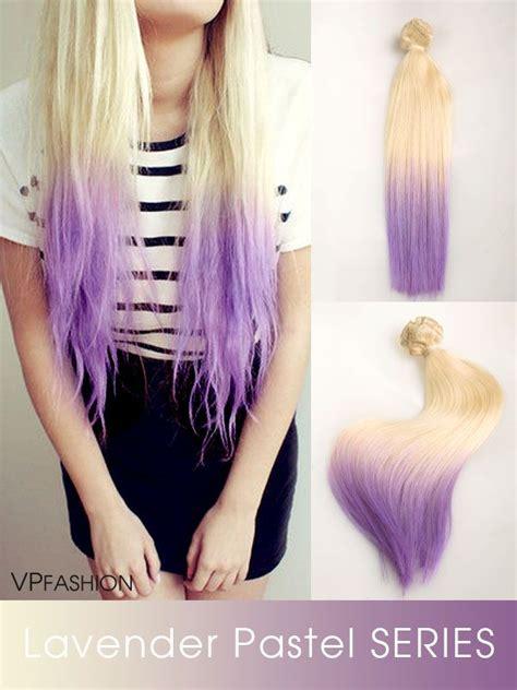 Lavender Purple Ombre Hair Color Idea For Blonde Hair