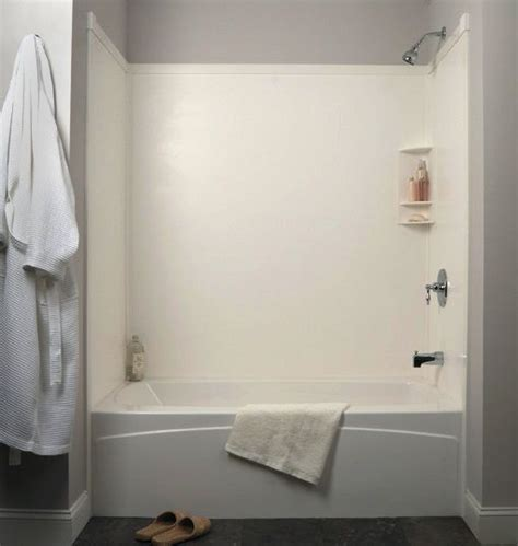 tub surround  white transolid bath remodel bathtub