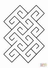 Pattern Spiral Celtic Coloring Pages Tile Quagmire Printable 26kb 1200px Dot Categories sketch template