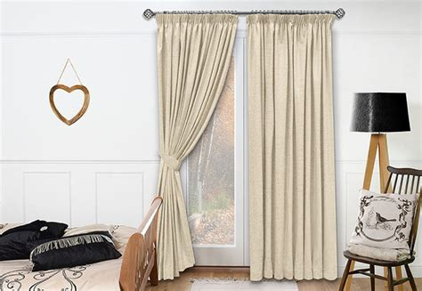 neutral bedroom draperies traditional by blinds
