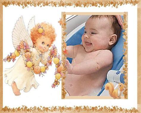 fotomontaje con angelito ideal para bautizos y nacimientos majo bautizo
