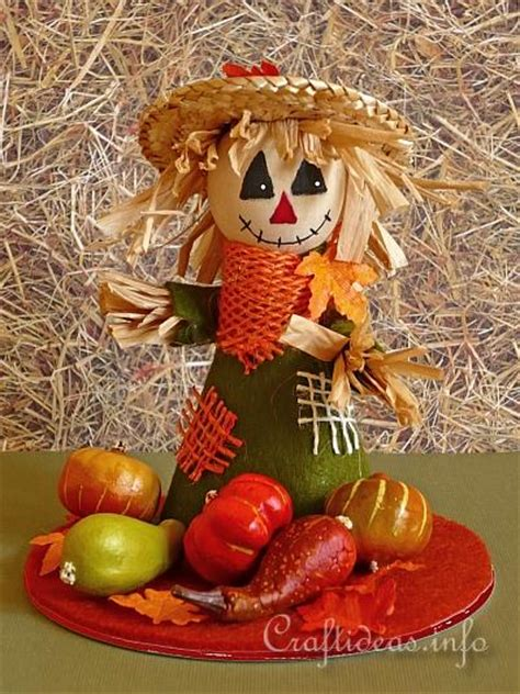 fall craft  autumn craft scarecrow table decoration