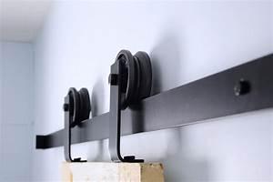 top mount barn door hardware kit hingeless With barn door mounting kit