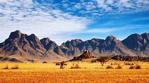 african, savannah, desert, mountains, , sky, stones, landscape