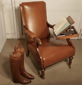 Gentleman, U2019s, Library, Chair, With, Reading, Stand