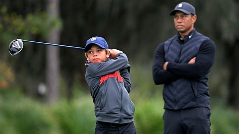 From Father to Son, Tiger Woods Looking Only for Enjoyment ...