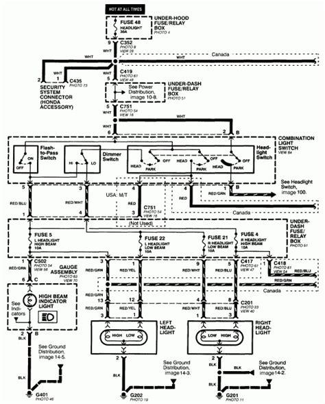 2003 Honda Crv Fuse Box Diagram by 2003 Honda Cr V Headlight Wiring Diagrams Fuse Box And
