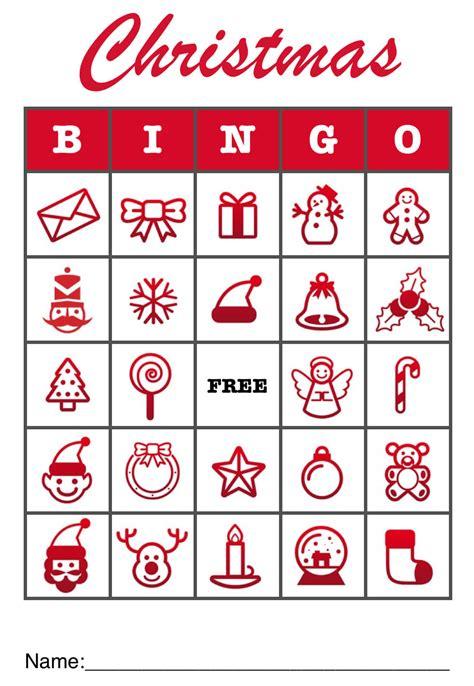 christmas bingo template   pages mactemplatescom