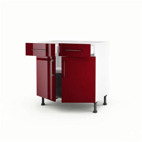 meuble bas cuisine but meuble de cuisine bas 2 portes 2 tiroirs griotte h