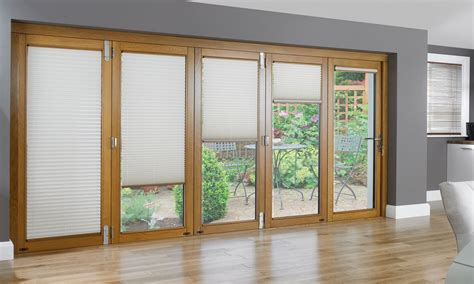 Sliding Door With Blinds In The Glass by Accordion Doors Patio Sliding Glass Doors With Built In