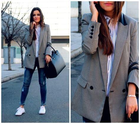Los mejores outfits con blazers grises. u00a1Te van a encantar! (6) - Curso de Organizacion del ...