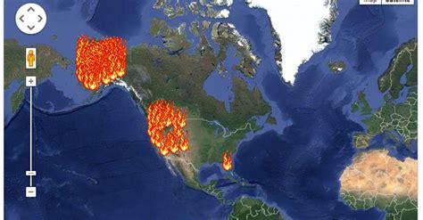 burn  frightening  wildfire map huffpost