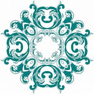 OnlineLabels Clip Art - Vintage Floral Style Design 6