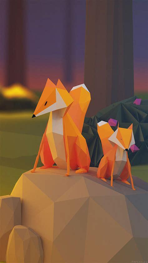 aj  fox illust art  animal papersco