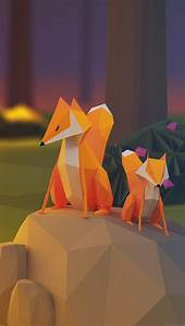 aj71-two-fox-illust-art-3d-animal - Papers co