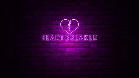 animation of word heartbreaker at neon light sign with a