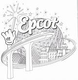 Coloring Epcot Pages Ball Disney Walt Template sketch template
