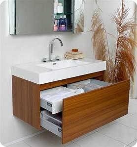 idee salle de bain teck pour une deco bois durable et jolie With petit meuble salle de bain teck