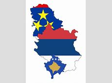 Flag map of Vojvodina, Civil Ensign of Serbia, and