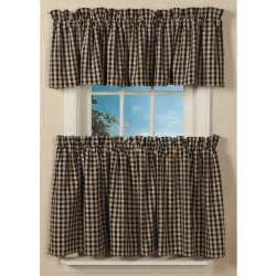 Tier Curtains For Bathroom by Classic Country Check Curtains Sturbridge Yankee Workshop