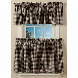 Classic Country Check Curtains Sturbridge Yankee Workshop