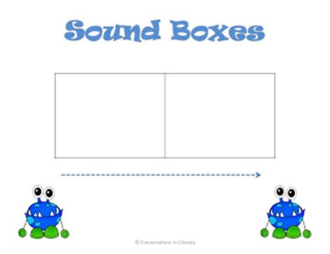 Elkonin Boxes Template by Sound Boxes Freebie