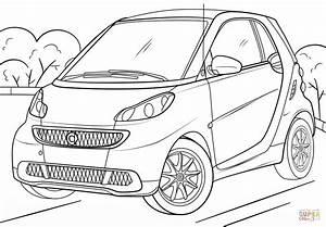 Dibujo de volkswagen golf para colorear dibujos para for Smart fortwo tuning