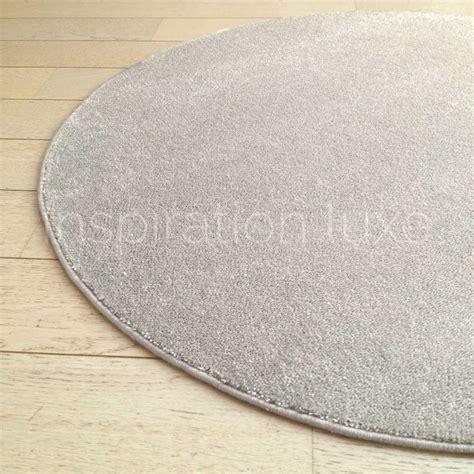 tapis rond sur mesure beige fin