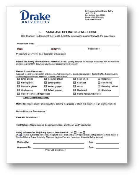 Standard Operating Procedures - Drake University