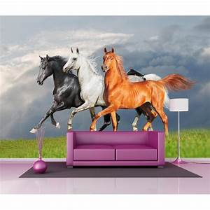 Papier Peint Geant : papier peint g ant d co les chevaux 250x360cm art d co ~ Premium-room.com Idées de Décoration