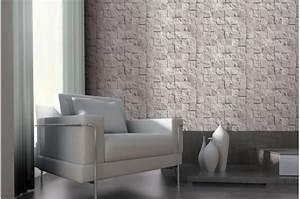 Papier Peint Deco : papier peint damier de pierre blanche papiers peints ~ Voncanada.com Idées de Décoration