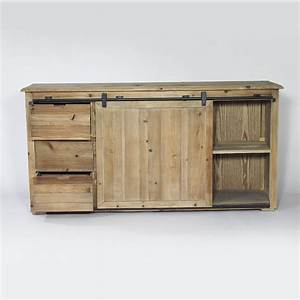 Porte De Meuble : buffet industriel porte coulissante 6 tiroirs bois made in meubles ~ Teatrodelosmanantiales.com Idées de Décoration