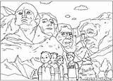 Canyon Grand Rushmore Mount Coloring Esculturas Colorir Desenho sketch template