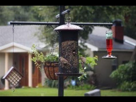 squirrel proof bird feeder pole  baffle system