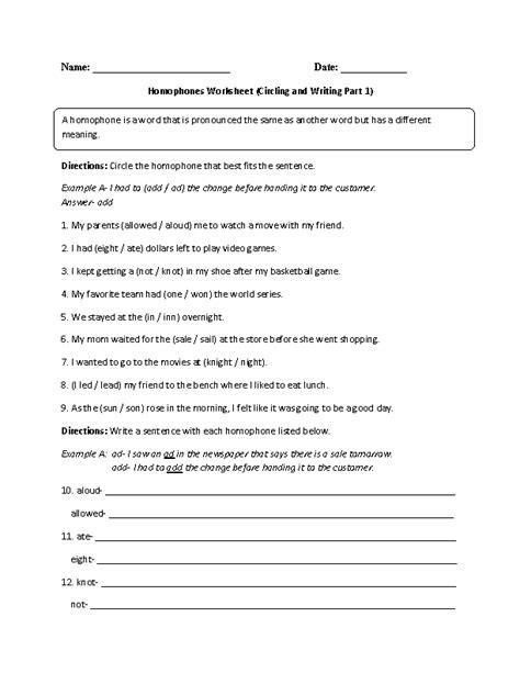 homonyms worksheet 2nd grade worksheets for all