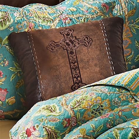 Western Bedding: Spanish Cross Embroidered Pillow Lone