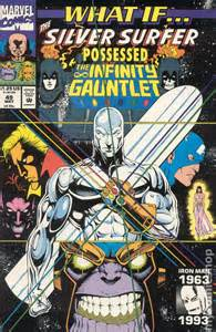 infinity gauntlet surfer silver 49 marvel comic comics possessed books covers series avengers coverbrowser issue thanos super had countdown argent