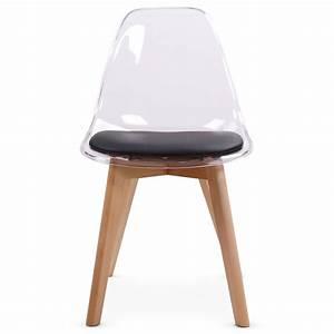 Chaises Scandinaves Noires : chaises scandinaves plexi noir lot de 2 pas cher scandinave deco ~ Teatrodelosmanantiales.com Idées de Décoration