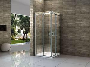 Schienensystem Für Schiebetüren : area 90 x 90 cm glas schiebet r dusche duschkabine duschwand duschabtrennung ebay ~ Frokenaadalensverden.com Haus und Dekorationen