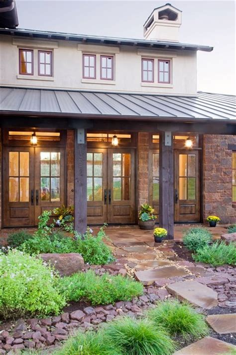 rustic hill country eclectic exterior austin