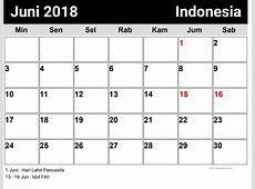 Juni, Indonesia Kalender 2018 newspicturesxyz