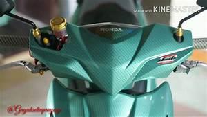 Modifikasi Motor Honda Beat Fi Full Carbon