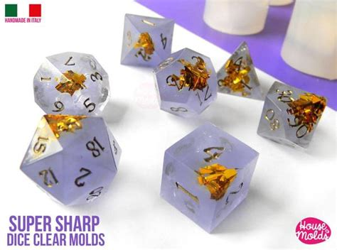 Clear Silicone Dice Mold  Styles Extra Sharp
