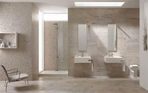 Comment choisir son carrelage de salle de bains for Salle de bain design avec vasque en verre castorama