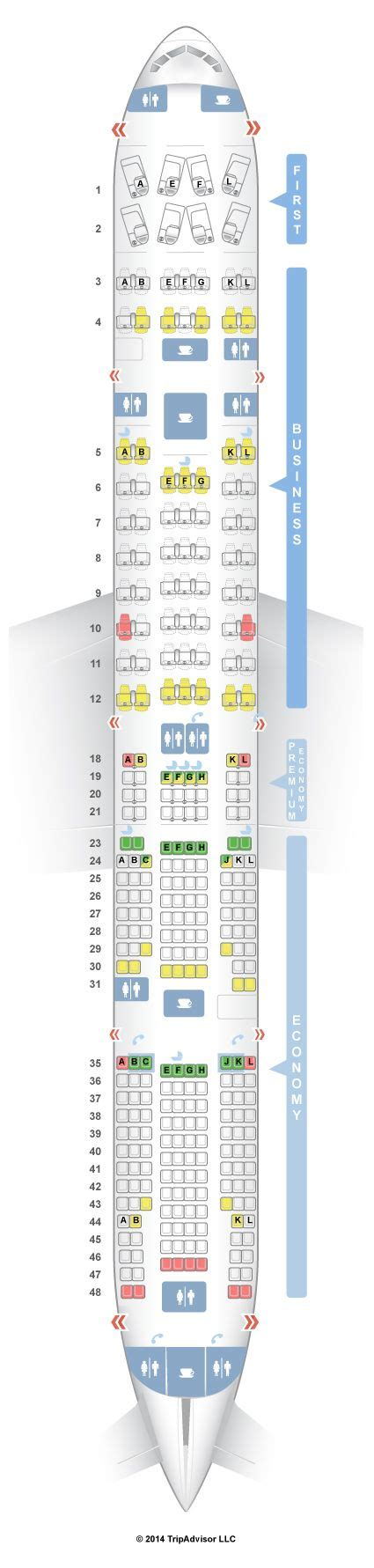 plan si鑒es boeing 777 300er best 25 boeing 777 300 seating ideas only on