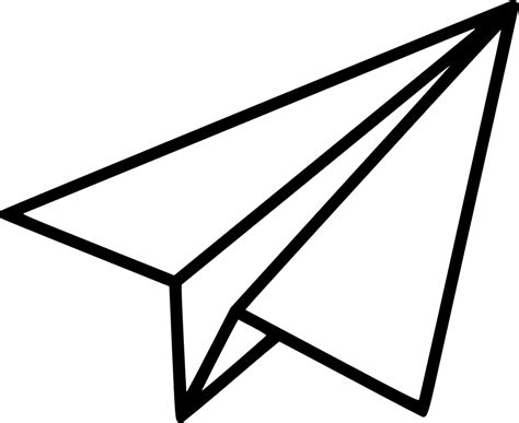 14791 paper clipart black and white airplane flight paper paperairplane paperplane plane