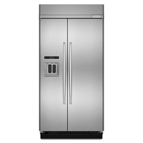 Kitchenaid Refrigerator Built In by Kitchenaid 48 In W 29 5 Cu Ft Built In Side By Side